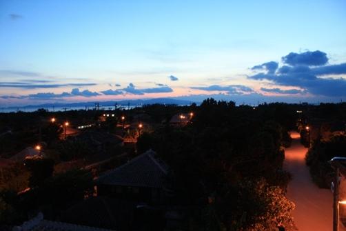 竹富島 なごみの塔より 夕方~夜.jpg